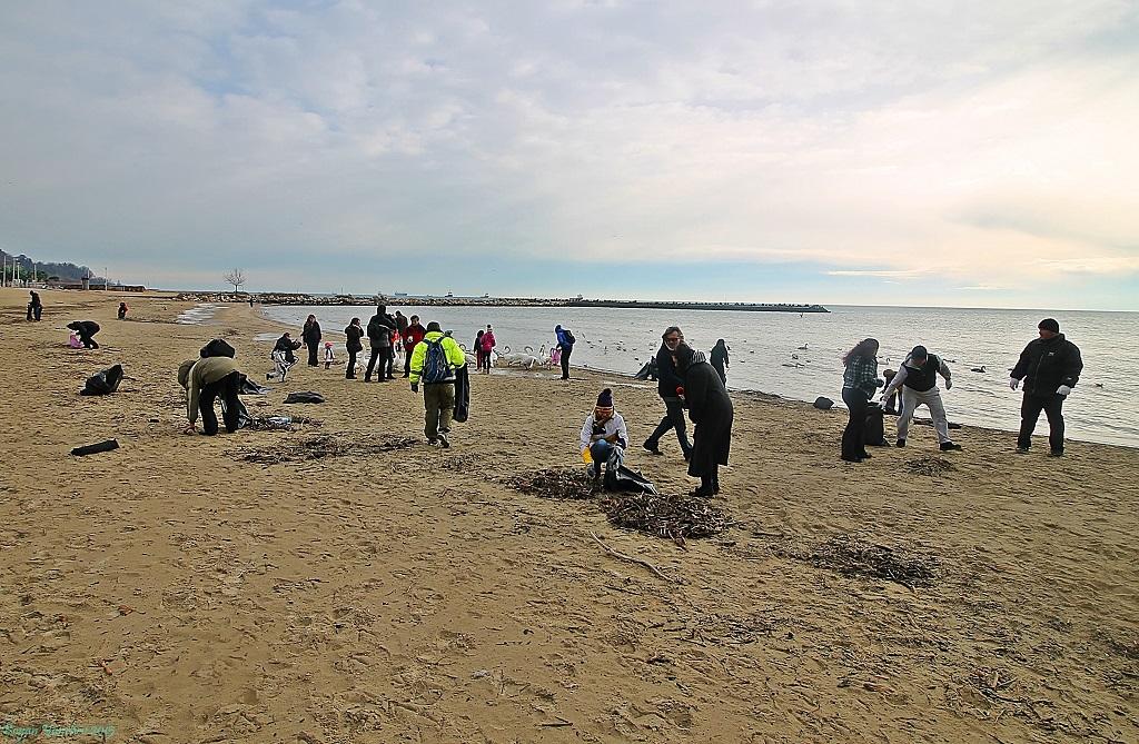 Почистване на Офицерския плаж, фото: Боян Янчев